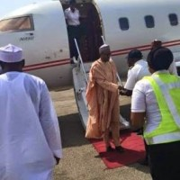 Election Results: Buhari Arrives In Abuja - Photos