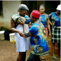 VIDEO: Nollywood Actor Chiwetalu Agu Grabs His Daughters' B00bs While On Set Of A Movie