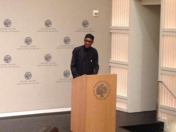 President Muhammadu Buhari speaks at U.S. Institute of Peace
