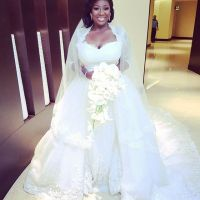 Toolz and Husband Tunde Demuren First Kiss at Dubai White Wedding | PHOTOS + VIDEO