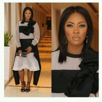 See Tiwa Savage's Stylish Look To Toolz' Wedding In Dubai (Photos)