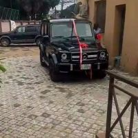 Woman Surprises Her Man With G-Wagon Mercedes SUV Gift In Lagos  (Photos/Video)
