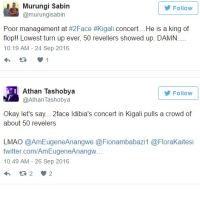 2Face Idibia's Concert In Rwanda Was A Big Flop; Only 50 People Showed Up (Photos)
