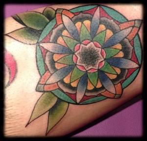 Old School Flower | Aubrey | 39th Street Tattoo Kansas City