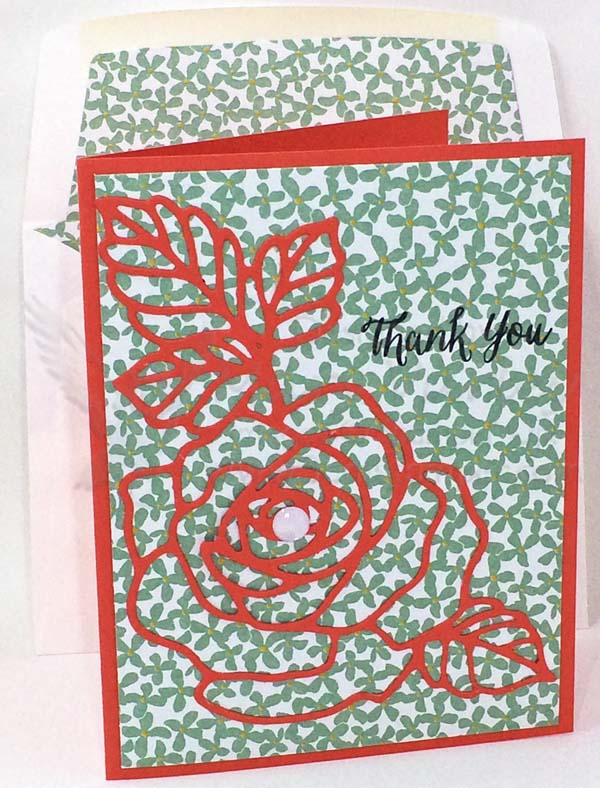 Calypso Coral Thank You Card