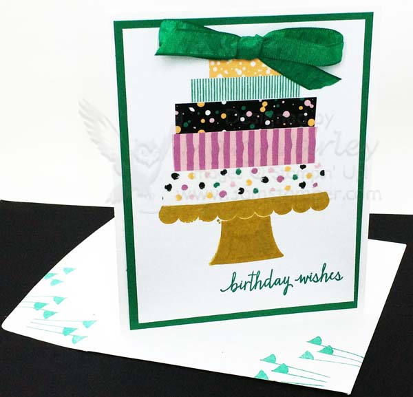 Fun with Washi Tape Birthday Card - visit http://www.3amstamper.com