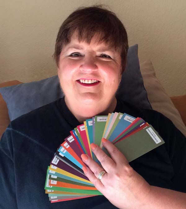 Real Life Color Coach with Fan of Colors - Visit http://www.3amstamper.com