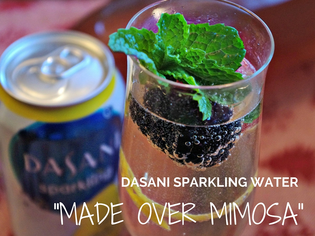 Made Over Mimosa with Dasani Sparkling Water @walmart  #SparklingHolidays