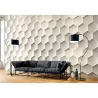 Hexagon - Gypsum plaster 3D wall panels