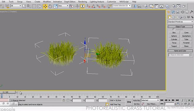 Creare erba fotorealistica in 3ds max e Vray