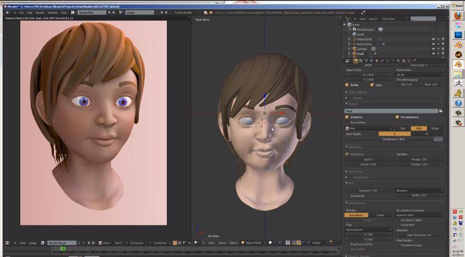 Modellazione di un personaggio con Blender