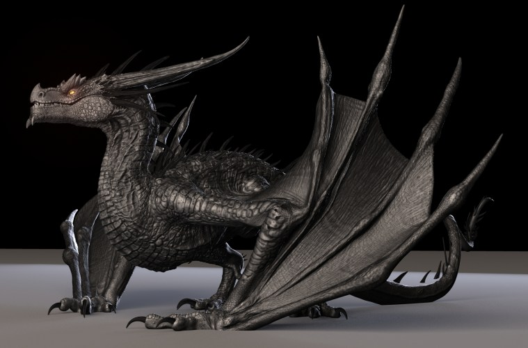 3D Model Free Dragon Rigged