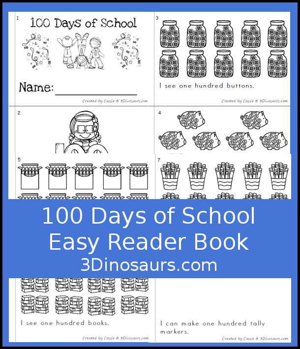 100 Days of School Easy Reader Book 3 Dinosaurs