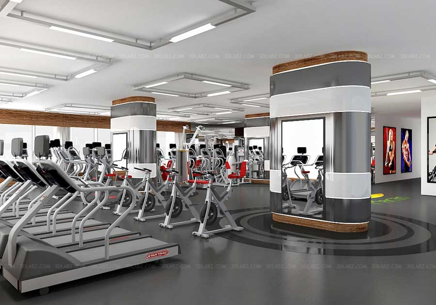 Gym 3d Wallpaper Gym 3d Interior Health Club 3d Rendering Company India