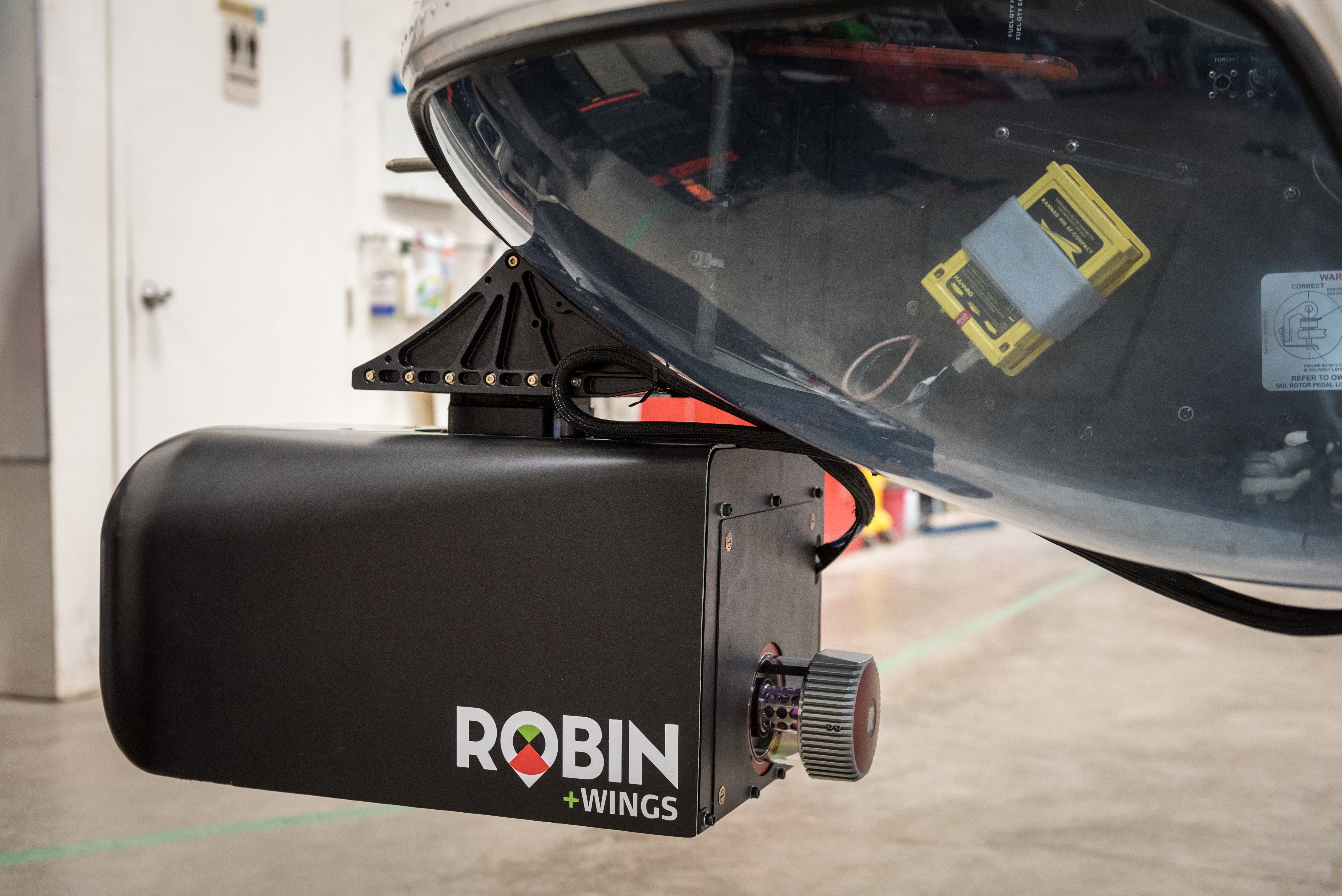 ROBIN +WINGS airborne lidar helicopter