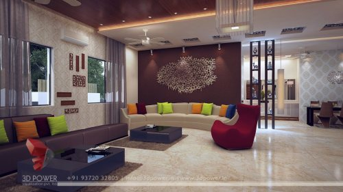 Medium Of Living Room Interior
