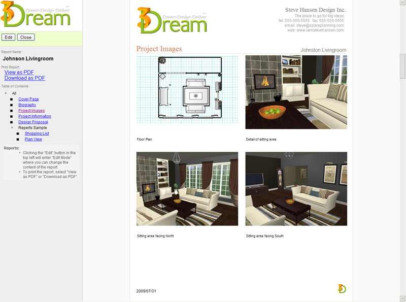 Details for Interior Designers, Decorators and Home Stagers - interior design proposal template
