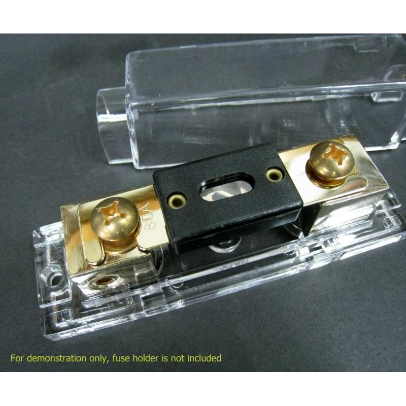 FH-ANL NEW Car Stereo Audio ANL Fuse Holder 2- 4 Gauge Wire +100A