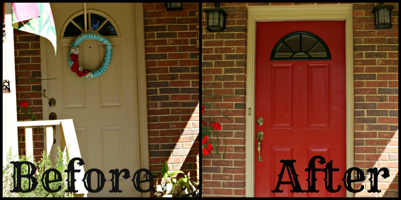 Red Front Door Brown House red front door brown house