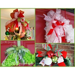 Picturesque Wreaths This How To Make An Easy Bow Tree Door Hangers How To Make Bows Out Wrapping Paper How To Make Bows