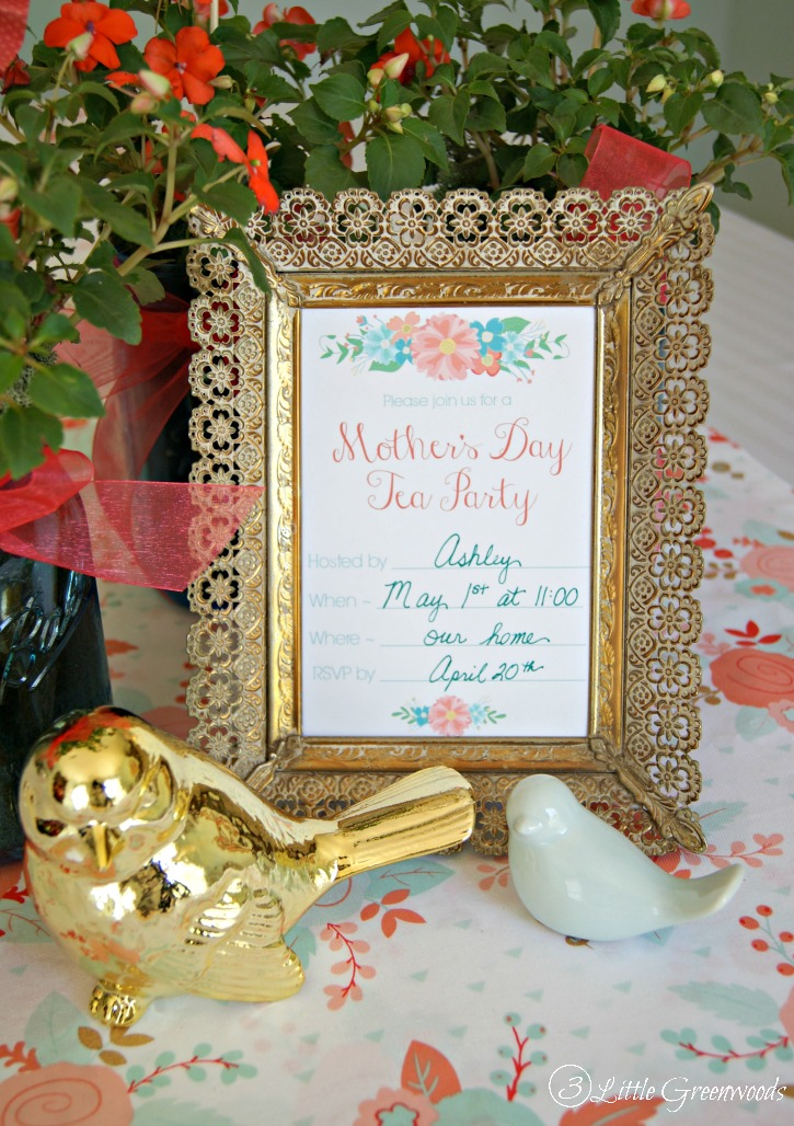 Mother\u0027s Day Tea Party Invitation {Free Printables}