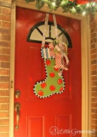 Christmas Stocking Door Hanger - 3 Little Greenwoods
