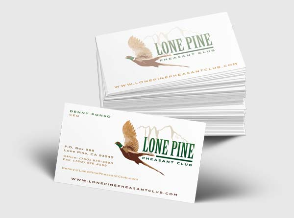 Pheasant Club Business Card Design Cards for Pheasant Clubs - club card design