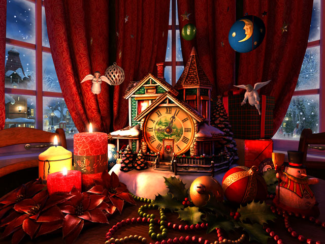Android Animated Wallpaper For Iphone Holidays 3d Screensavers Christmas Evening 3d