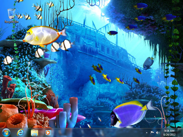 Desktop Aquarium 3d Live Wallpaper Windows 7 Fish 3d Screensavers Coral Reef Underwater World
