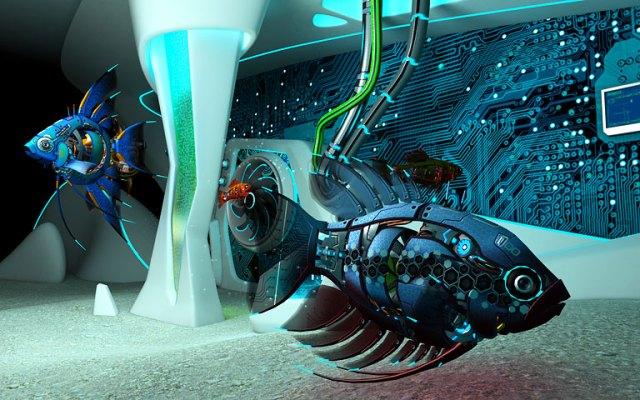 Cyberfish Screensaver   Animated Fish Aquarium Screensaver to Download