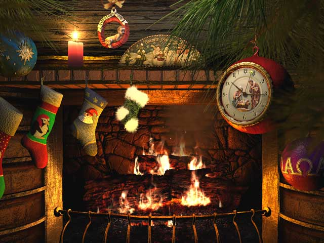 Santa Claus 3d Live Wallpaper And Screensaver Holidays 3d Screensavers Fireside Christmas Animated