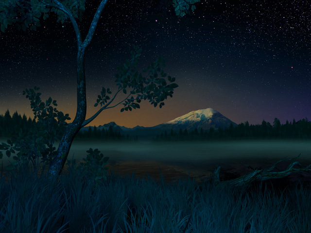 Fall Live Wallpapers For Windows 7 Nature 3d Screensavers Starry Night Tranquility