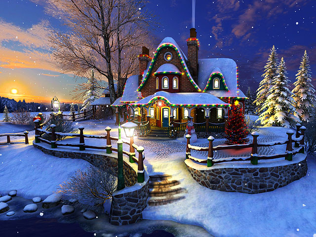 Snow Village 3d Live Wallpaper And Screensaver Feiertage 3d Bildschirmschoner White Christmas Toller