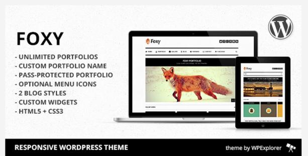 Foxy wordpress theme
