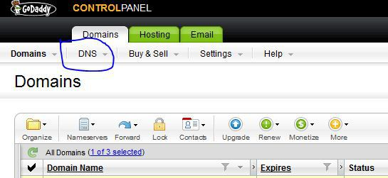 mapping blogger to a custom domain name