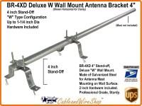 4 inch TV Antenna Mast Wall Mount W Bracket BR-4XD   3 ...