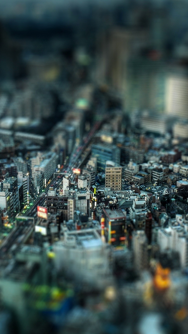 Iphone 4s New Wallpapers City Street Tilt Shift Tokyo Wallpaper For Iphone X 8 7