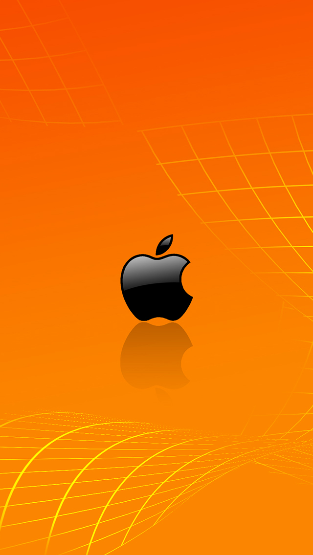 Free Fall Cartoon Wallpaper Orange Apple Wallpaper For Iphone X 8 7 6 Free