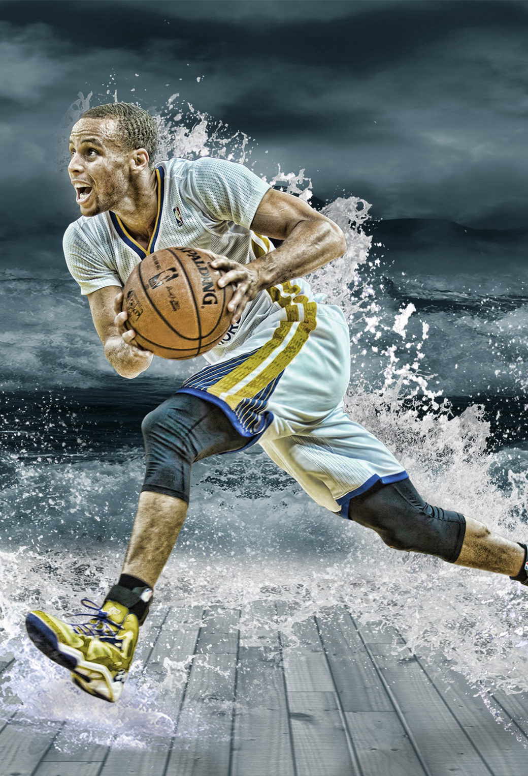 3d Parallax Wallpapers Androod Stephen Curry Splash Wallpaper For Iphone X 8 7 6