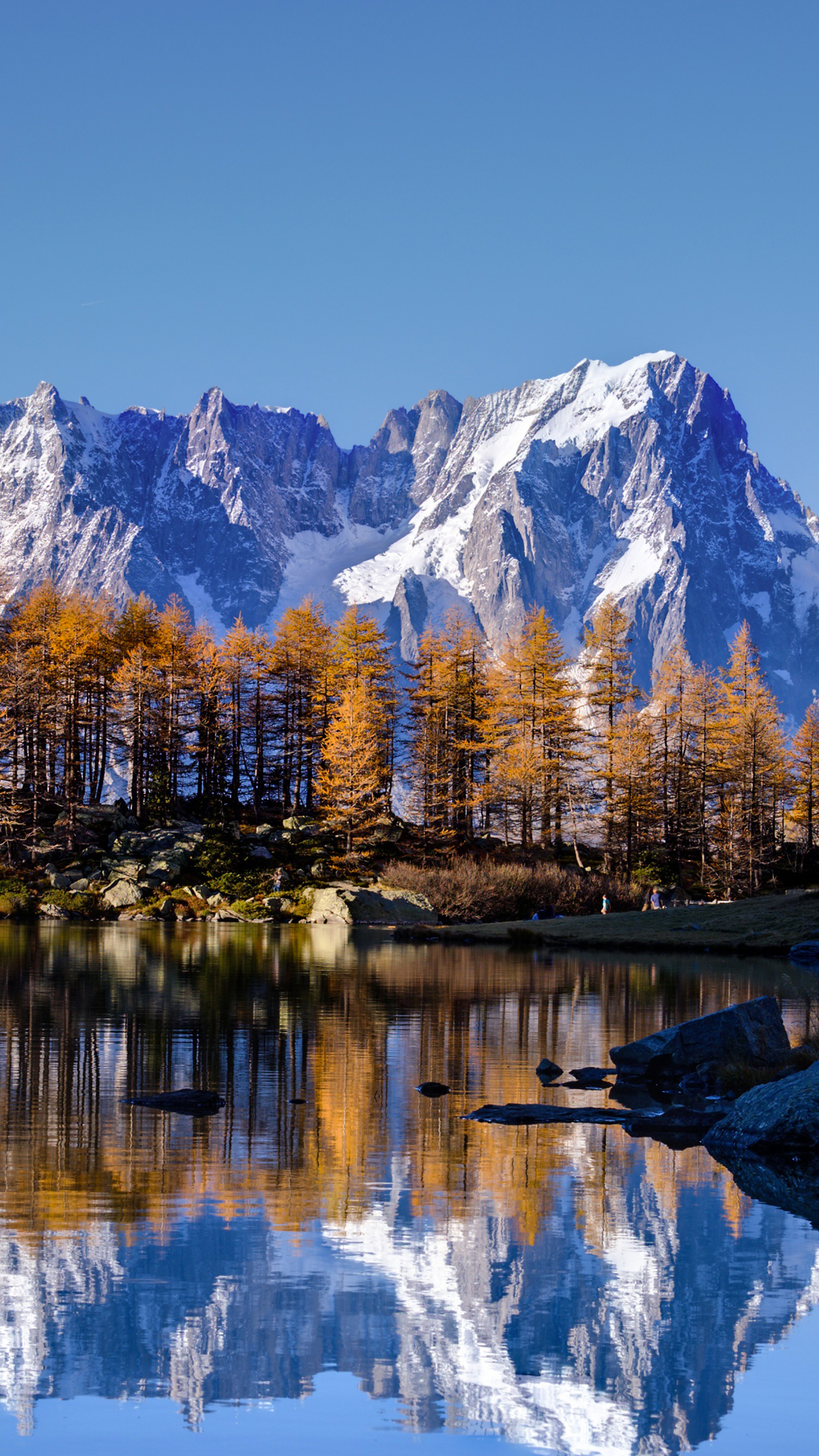 3d Parallax Wallpaper Pro Mont Blanc Autumn Wallpaper For Iphone X 8 7 6 Free
