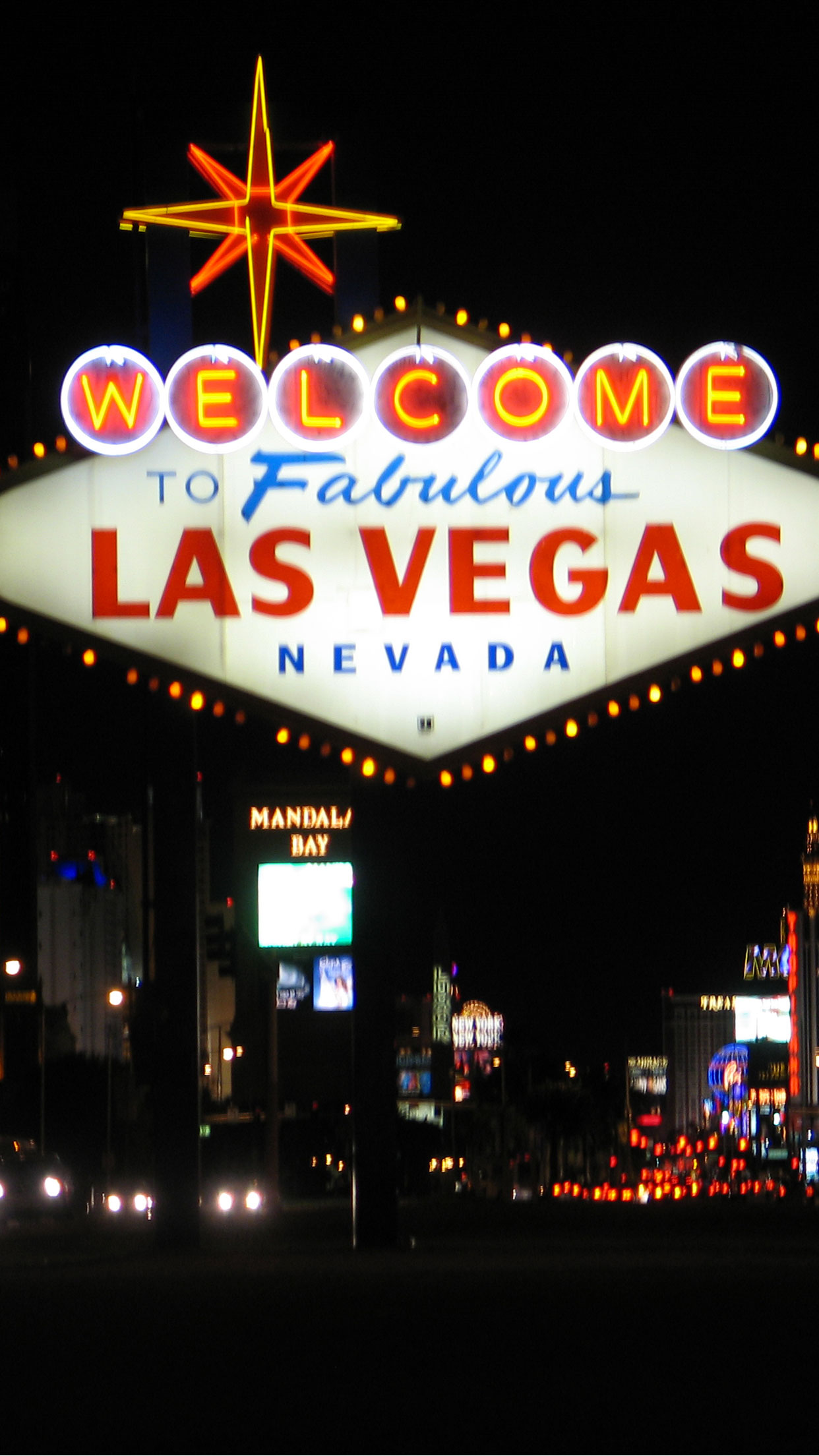Cars Iphone 7 Wallpaper Las Vegas Welcome Wallpaper For Iphone X 8 7 6 Free