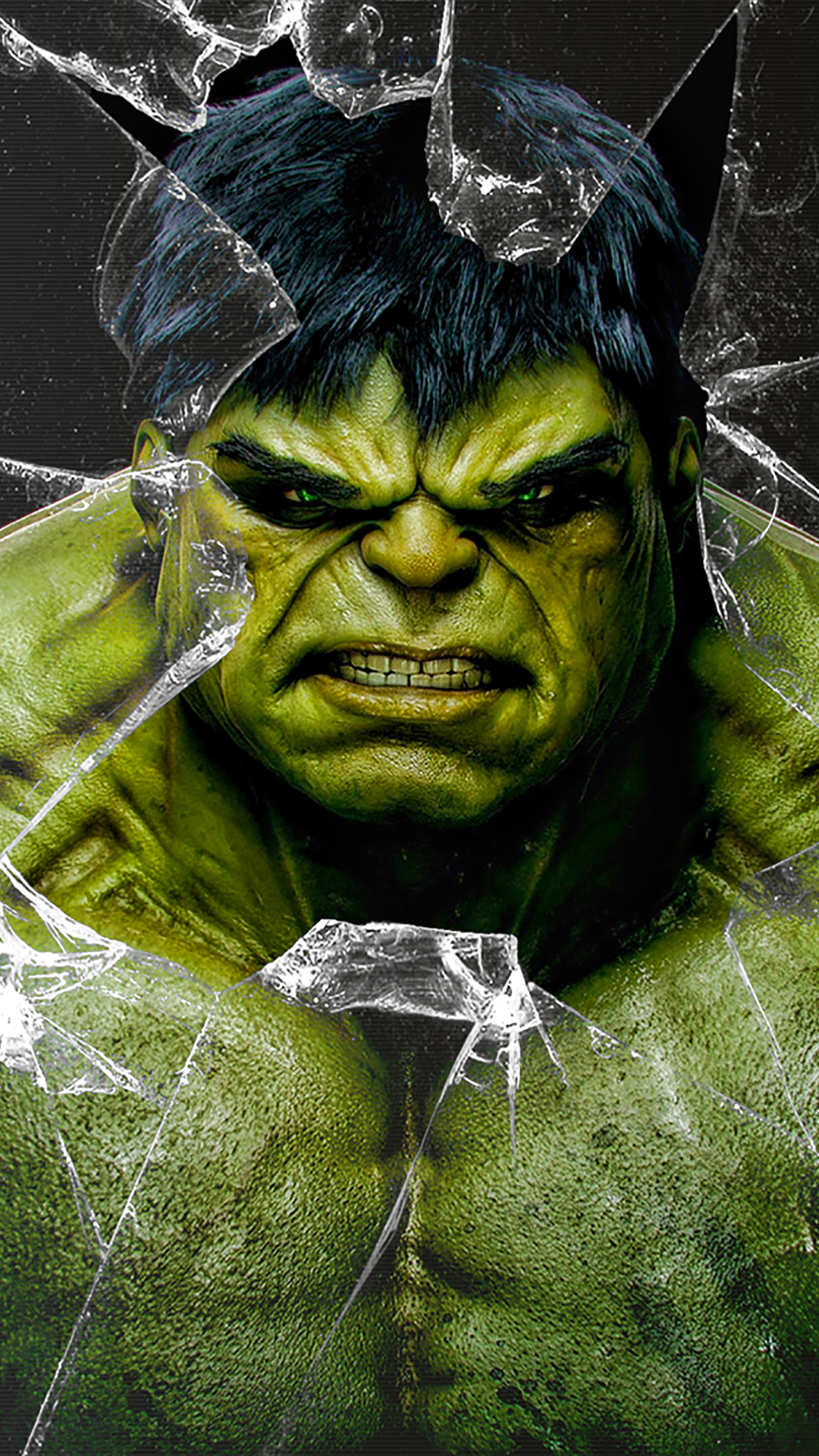 Samsung Mobile Hd Wallpapers Free Download Hulk Broken Glass Wallpaper For Iphone X 8 7 6 Free