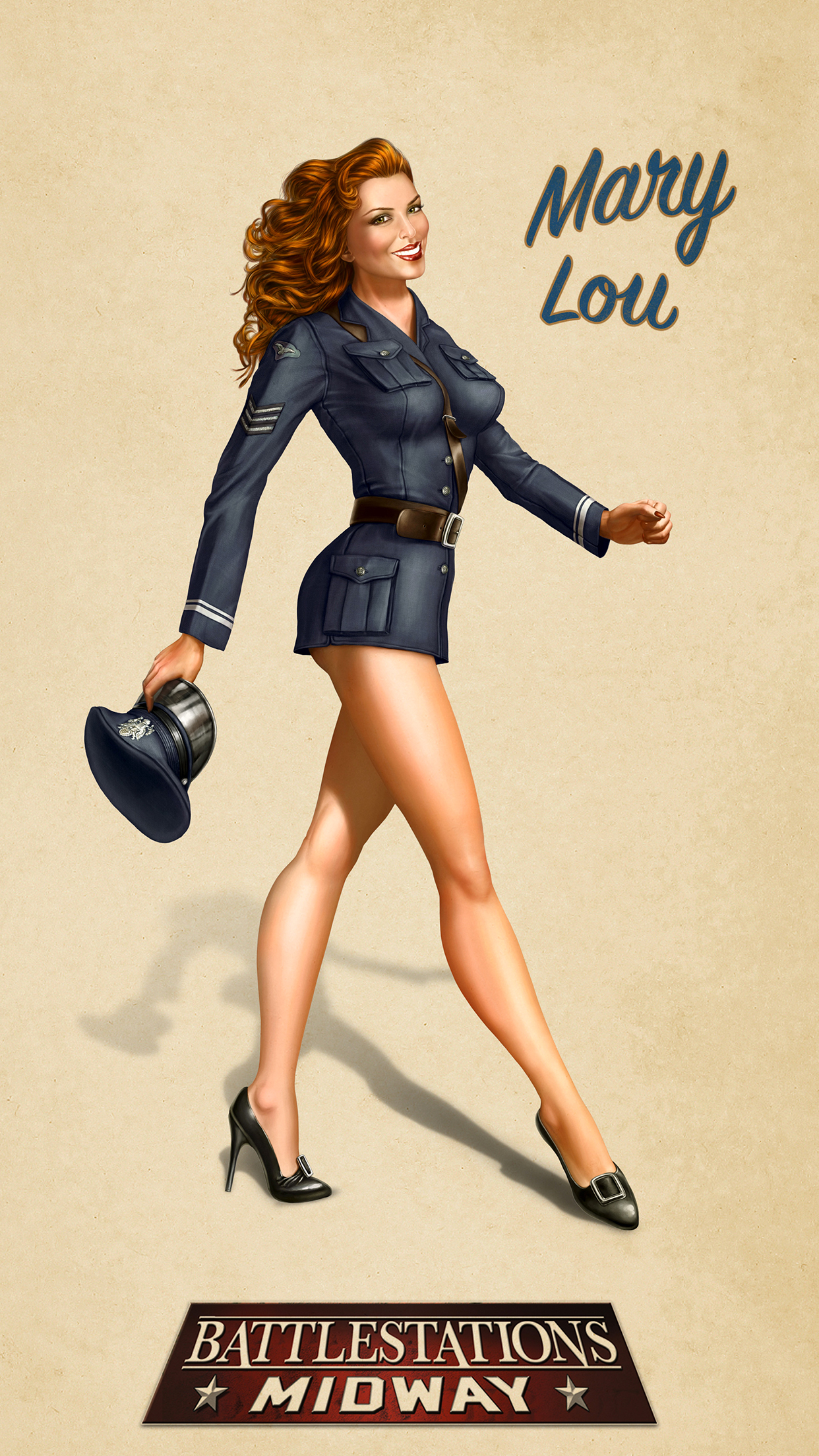 Ww2 Pin Up Girl Wallpaper Pin Up Mary Lou Wallpaper For Iphone X 8 7 6 Free
