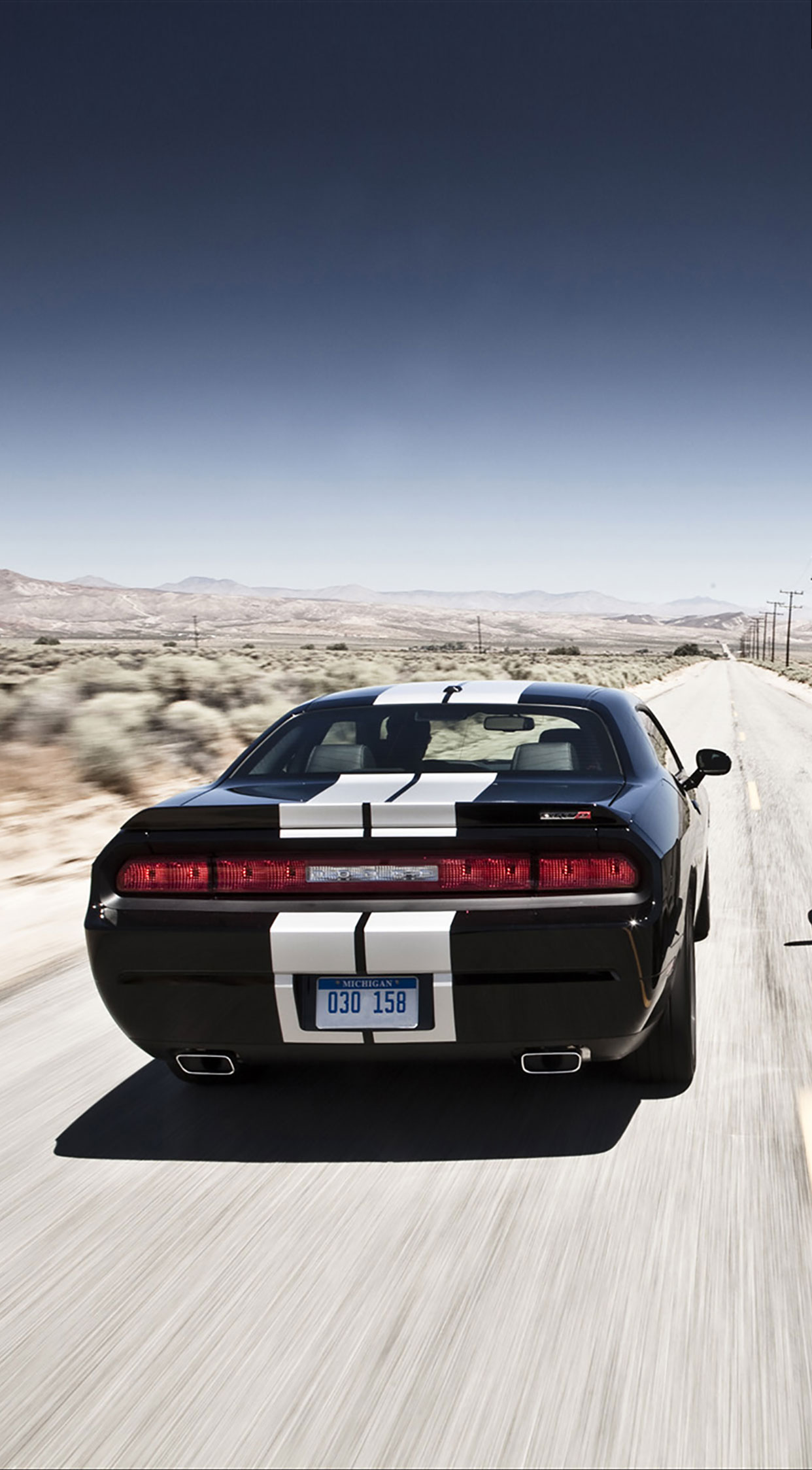 Girl With Balloons Wallpaper Dodge Challenger Back Wallpaper For Iphone X 8 7 6