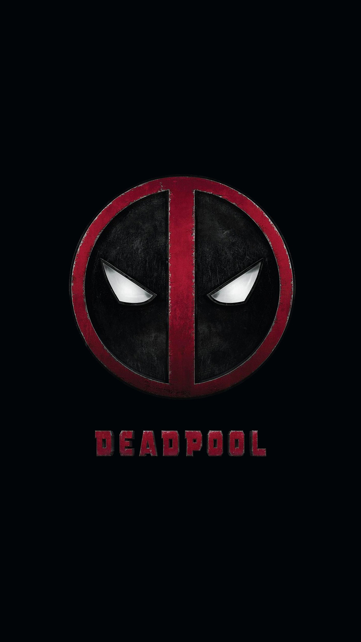 Iphone 5s Beach Wallpaper Deadpool Logo Wallpaper For Iphone X 8 7 6 Free