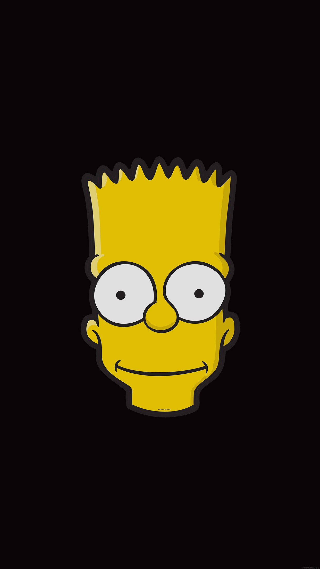 All White Iphone Wallpaper Simpsons Bart Wallpaper For Iphone X 8 7 6 Free