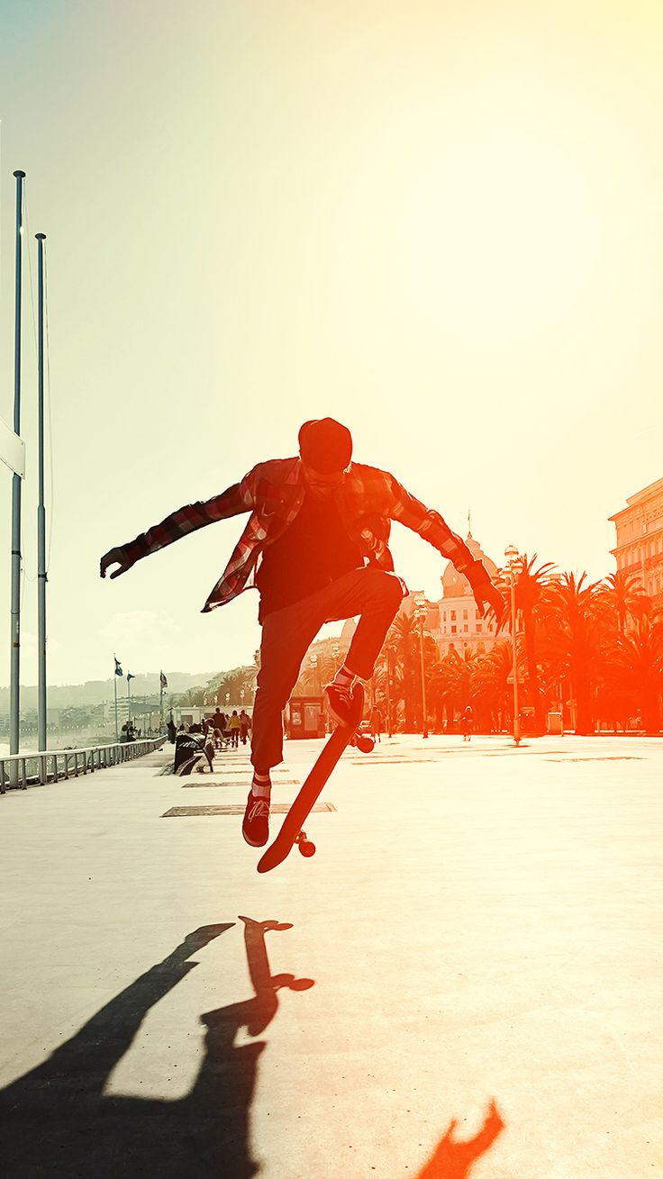 Skate Jump Wallpaper For Iphone X 8 7 6 Free Download