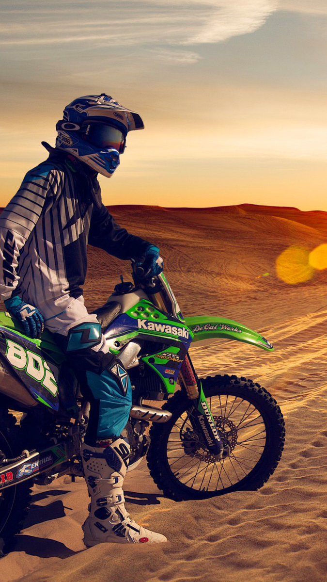 Wallpaper 8k Girl Motocross Desert Wallpaper For Iphone X 8 7 6 Free