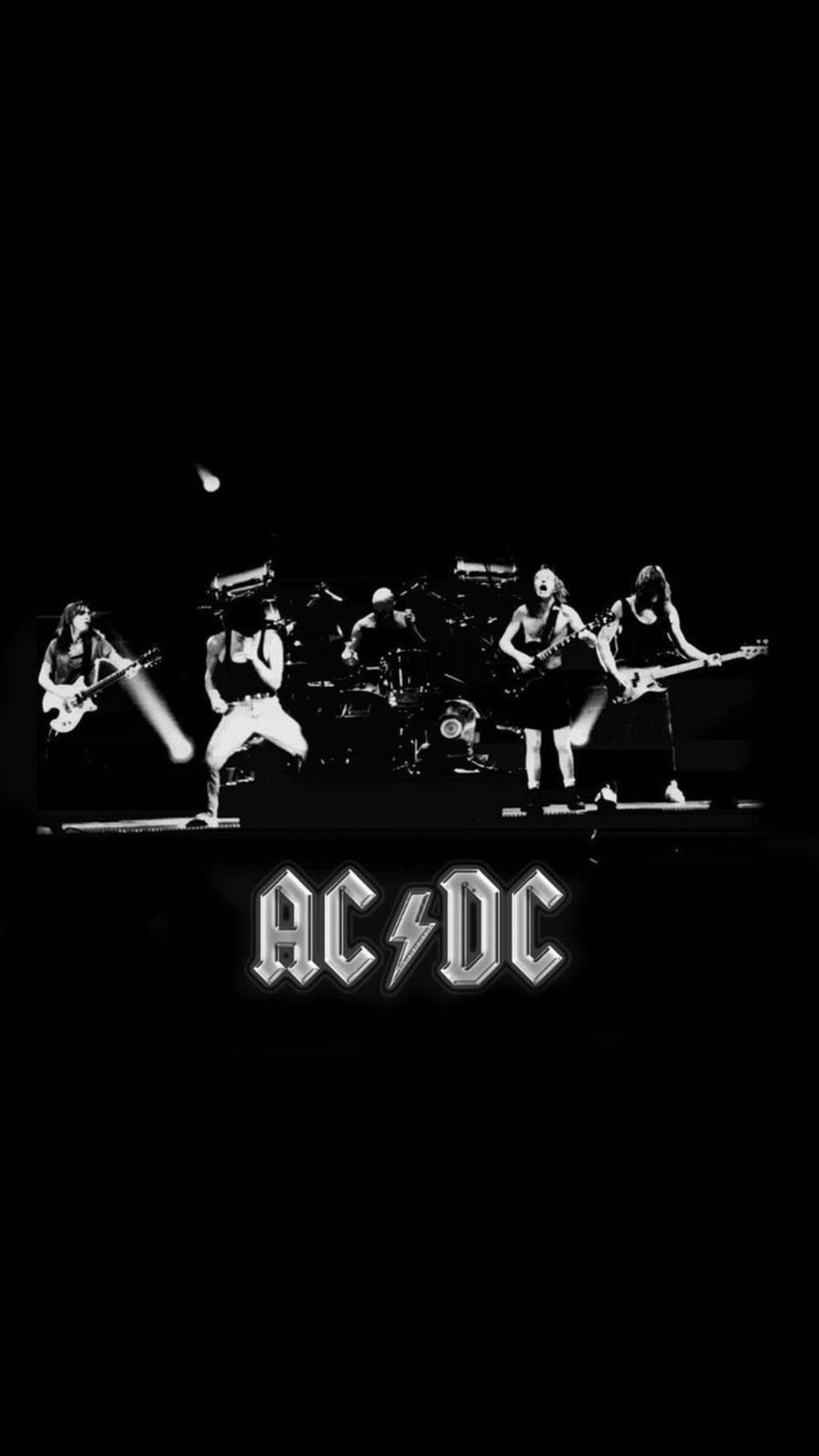 Red And Black Graffiti Wallpaper Ac Dc Group Wallpaper For Iphone X 8 7 6 Free