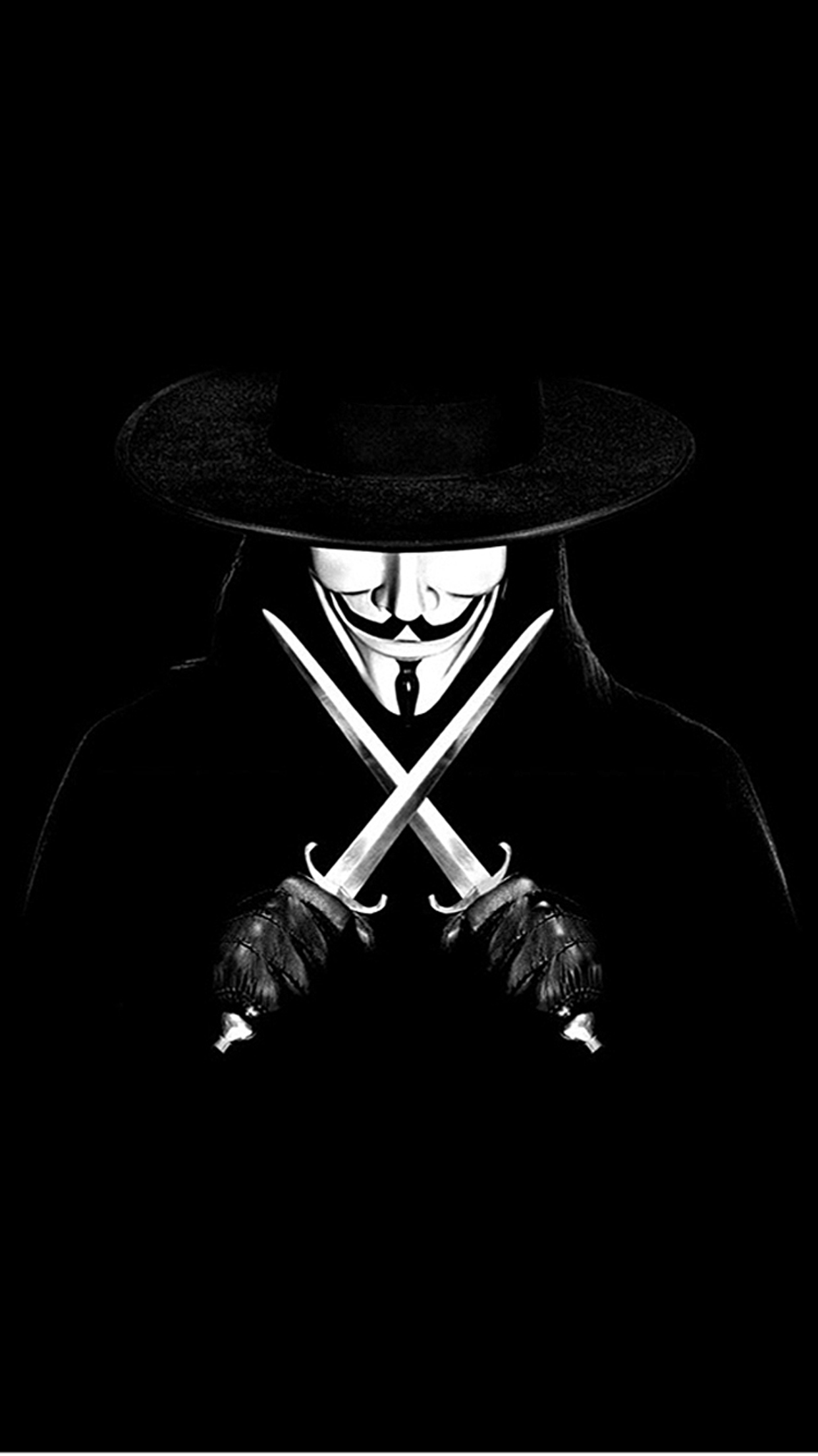 Wallpaper For Iphone 5s Black Anonymous V For Vendetta Wallpaper For Iphone X 8 7 6